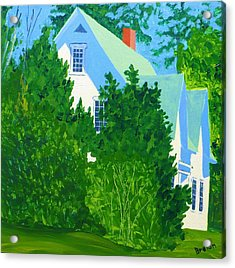 Gables Acrylic Print by Laurie Breton