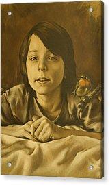 Gabriel Monotone Sketch Acrylic Print by Tim Thorpe
