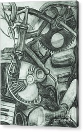 Acrylic Print featuring the drawing Gadgets Of Sorts by Angelique Bowman