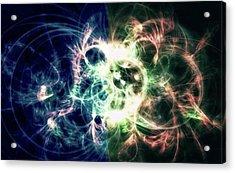 Gaia Awake #art #abstract #digitalart Acrylic Print by Michal Dunaj