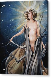 Gaia Acrylic Print by Jacque Hudson
