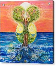 Gaia Rising Acrylic Print by Solveig Katrin