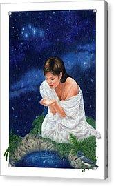 Gaian Tarot Star Acrylic Print by Joanna Powell Colbert