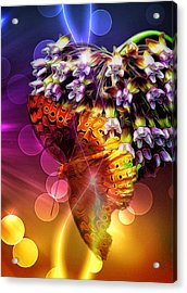 Galactic Butterfly Effect Acrylic Print by Bill Tiepelman