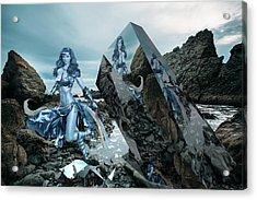 Galactic Mermaid Acrylic Print