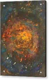 Galactica Original Painting Acrylic Print by Sol Luckman