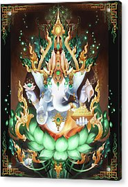 Galactik Ganesh Acrylic Print by George Atherton