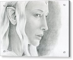 Galadriel The Fair Lady Of The Forest Acrylic Print