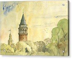 Galata Tower Istanbul Acrylic Print by Juan Bosco