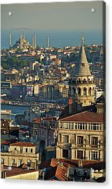 Galata Tower Acrylic Print by Photo by Bernardo Ricci Armani