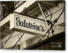 Galatoire's Friday Brunch Acrylic Print by Leslie Leda
