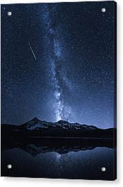 Galaxies Reflection Acrylic Print by Toby Harriman