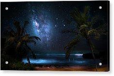 Galaxy Beach Acrylic Print