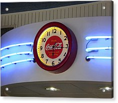 Acrylic Print featuring the photograph Galaxy Diner Clock by Gordon Beck