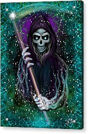 Galaxy Grim Reaper Fantasy Art Acrylic Print