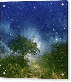 Galaxy Landscape Acrylic Print