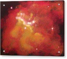 Galaxy M20 Possible Merging Of 2 Black Holes Acrylic Print by Jim Ellis