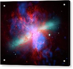 Acrylic Print featuring the photograph Galaxy M82 by Marco Oliveira