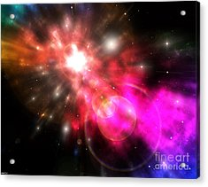 Acrylic Print featuring the digital art Galaxy Of Light by Phil Perkins
