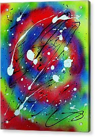 Acrylic Print featuring the painting Galaxy by Patrick Morgan