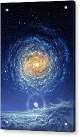 Galaxy Rising Acrylic Print by Don Dixon
