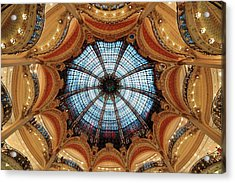 Acrylic Print featuring the photograph Galeries Lafayette Interior by Songquan Deng