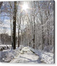 Gales Ferry Winter Wonderland Acrylic Print