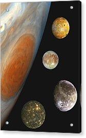 Galilean Moons Of Jupiter Acrylic Print