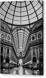 Galleria Milan Italy Bw Acrylic Print by Joan Carroll