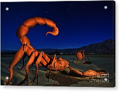 Galleta Meadows Estate Sculptures Borrego Springs Acrylic Print by Sam Antonio