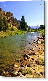 Gallitan River 1 Acrylic Print by Marty Koch