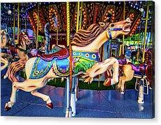 Galloping Carrousel Horse Acrylic Print