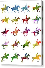 Galloping Gait Terrestrial Locomotion - White Acrylic Print by Aged Pixel
