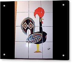 Galo De Barcelos Acrylic Print by Hilda and Jose Garrancho