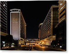 Acrylic Print featuring the photograph Galt House Hotel And Suites At Night by Randy Scherkenbach