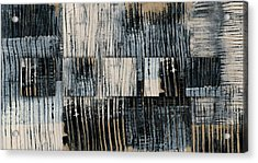Galvanized Paint Number 1 Horizontal Acrylic Print by Carol Leigh