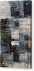 Acrylic Print featuring the photograph Galvanized Paint Number 1 Vertical by Carol Leigh