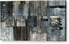 Acrylic Print featuring the photograph Galvanized Paint Number 2 Horizontal by Carol Leigh