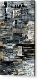 Acrylic Print featuring the photograph Galvanized Paint Number 2 Vertical by Carol Leigh