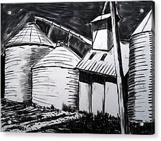 Galvanized Silos Waiting Acrylic Print