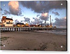 Galveston Island Historic Pleasure Pier Acrylic Print