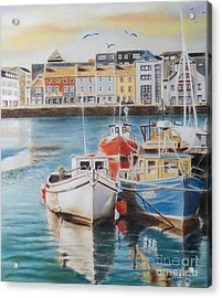 Galway Harbour Acrylic Print by Vanda Luddy