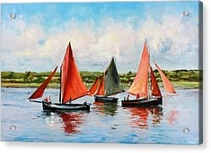 Galway Hookers Acrylic Print by Conor McGuire