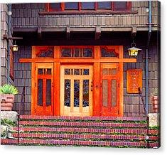 Gamble House Entry Acrylic Print by Timothy Bulone