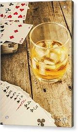 Gamblers Still Life Acrylic Print by Jorgo Photography - Wall Art Gallery