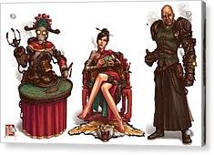 Gambling Den Concept Acrylic Print by James Ng