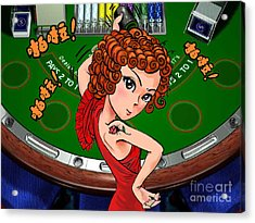 Gambling Acrylic Print