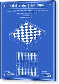 Game Board Patent - Blueprint Acrylic Print