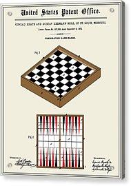 Game Board Patent Acrylic Print