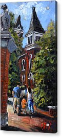 Game Day At Auburn Acrylic Print by Carole Foret